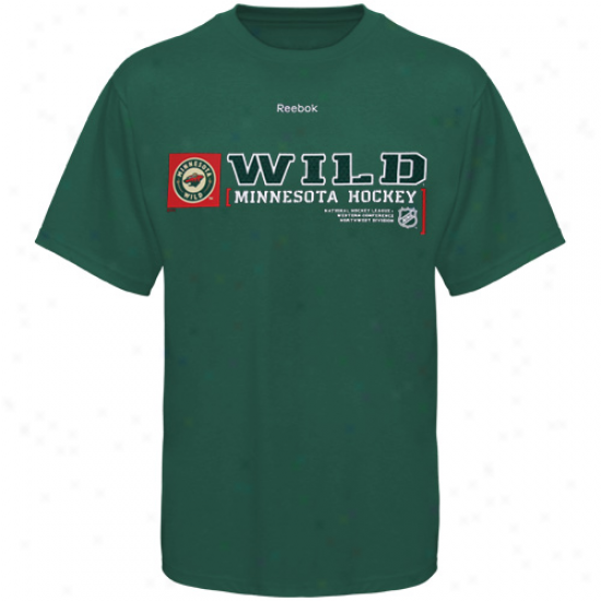 Minnesota Wild Attire: Reebok Minnesota Wild Green Call Sign T-shirt