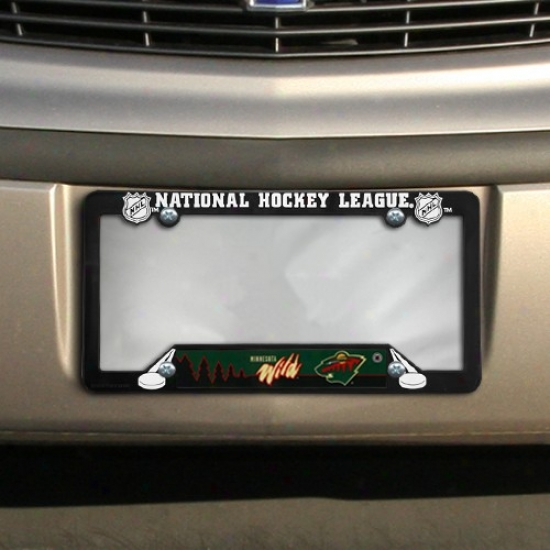 Minnesota Wild Black Plastic License Plate Frame