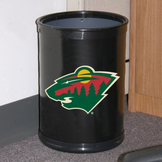 Minnesota Wild Black Team Wastebasket