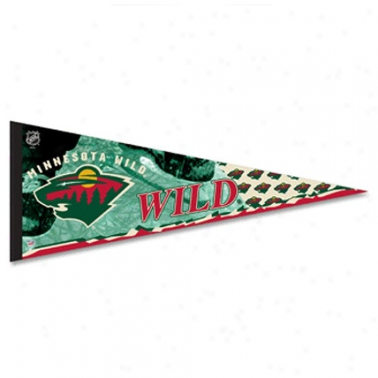 Minnesota Wild Green 12'' X 30'' Premium Felt Pennant