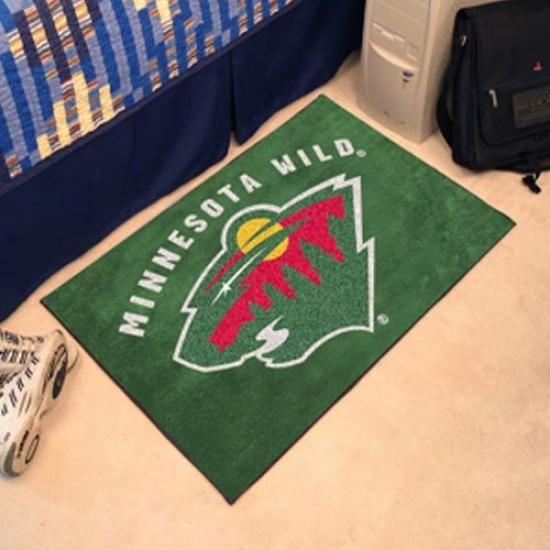 Minnesota Wild Green Logo Starter Mat