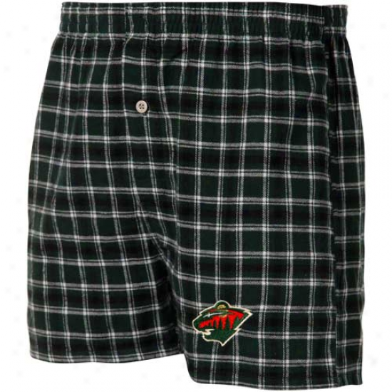 Minnesota Uncultivated Green Plaid Match-up Boxer