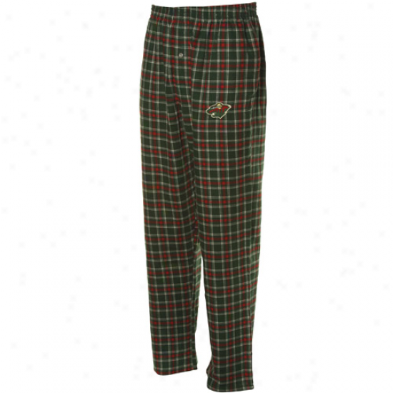 Minnesota Wild Green-red Plaid Match-up Pajama Pants