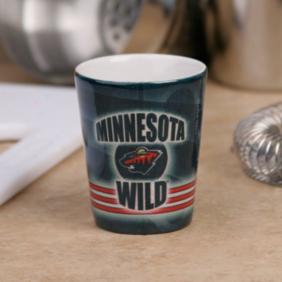 Minnesota Wild Lawn Slapshot Ceramic Shot Glass