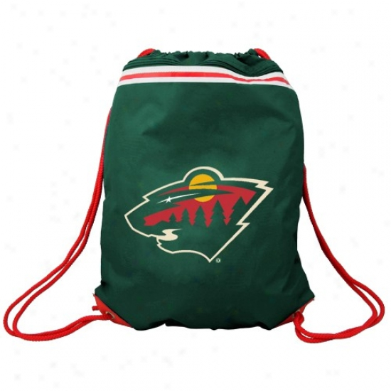 Minnesota Wild Green Team Logo Drawstring Backpack