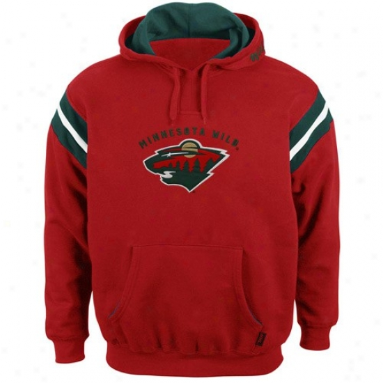 Minnesota Wild Hoodies : Majestic Minnesota Wild Red Pumped Up Hoodies