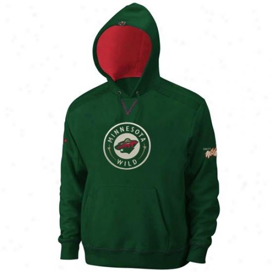 Minnesota Wild Hoodys : Majestic Minnesota Wild Green Conquest Hoodys