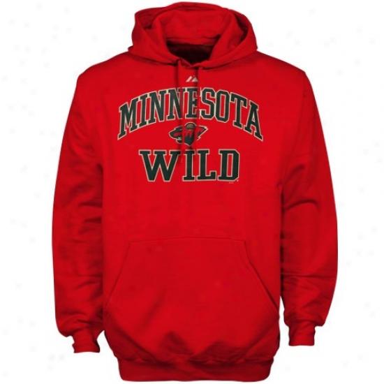 Minnesota Wild Hoodys : Majestic Minnesota Wild Red Heart & Soul Ii Hoodys