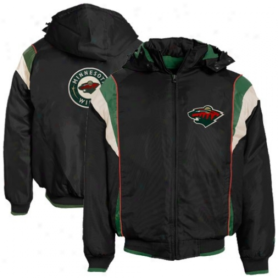 Minnesota Wild Jackets : Minnesota Wild Black Oxford Full Zi pJackets