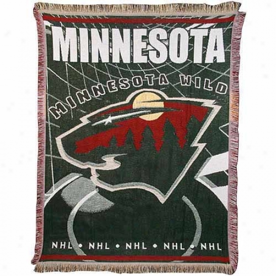 Minnesota Wild Jacquard Woven Blanket Throw