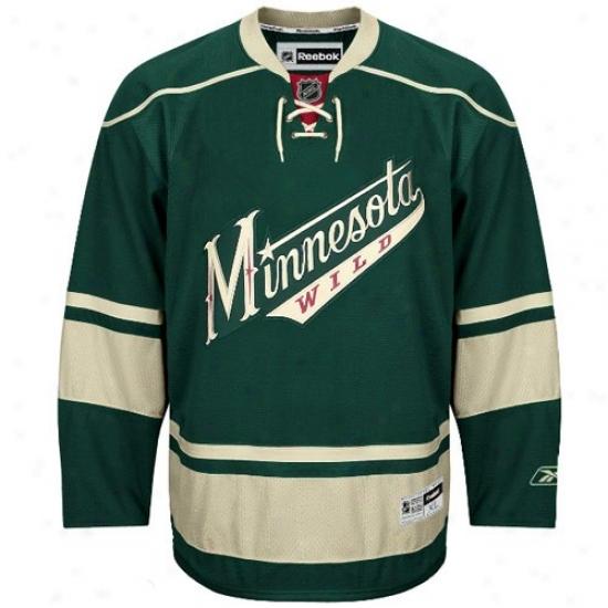 Minnesota Wild Jersey : Reebok Minnesota Wild Green Premier Hockey Jersey