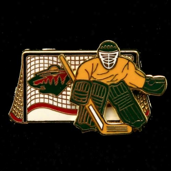 Minnesota Wild Merchandise: Minnesoat Wild Moving Goalie Pin