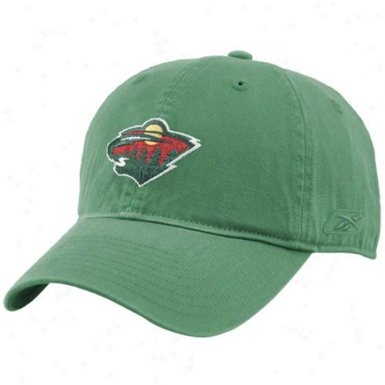 Minnesota Wild Merchandise: Reebok Minnesota Wild Green Unstructured Slouch Hat