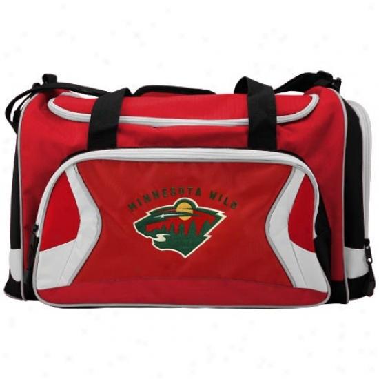 Minnesota Wild Red Team Logo Duffel Bag