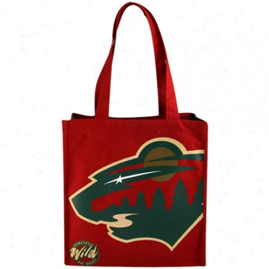 Minnesota Wild Red Team Stripe Canvsa Carry