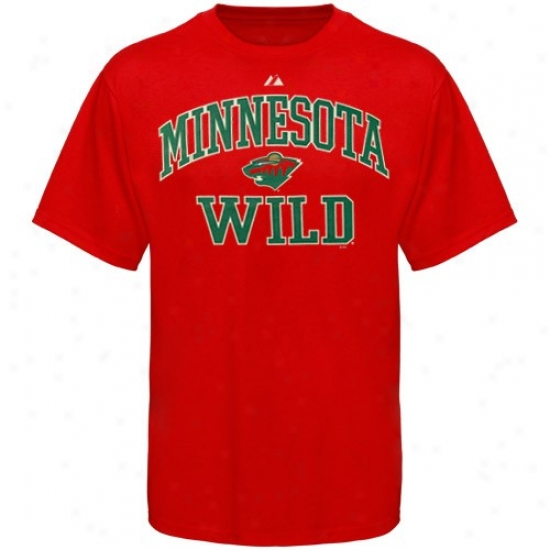 Minnesota Wild Shirts : Majestic Minnesota Wild Red Heart & Soul Ii Shirts