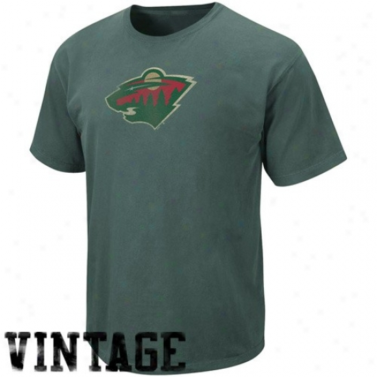 Minnesota Wild Shirts : Majestic Minnesota Wild Green Big Time Play Vintage Shirts