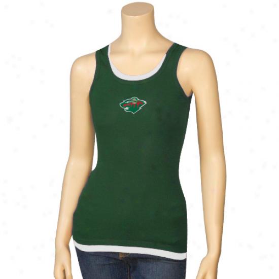 Minnesota Wild Shirts : Minnesota Wild Ladies Harmony Layered Tank Top