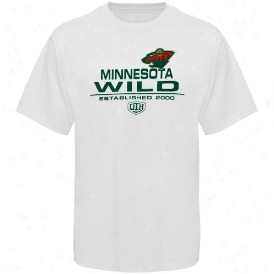 Minnesota Wild T Shirt : Old Time Hockey Minnesota Wild White Zeno T Shirt