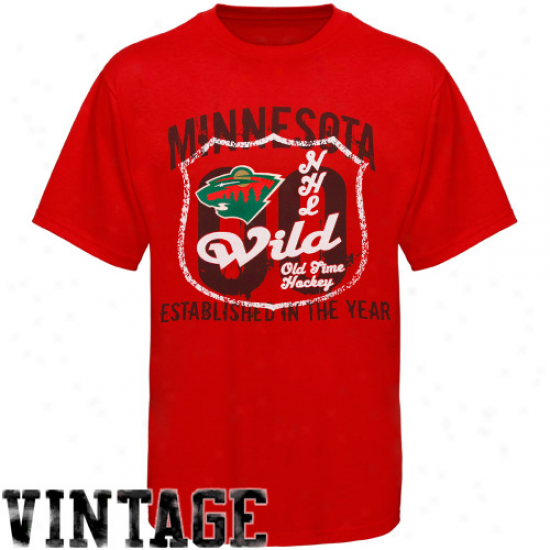 Minnesota Wild T Shirt : Crafty Time Hockey Minnesota Uncultivated Red Captain T Shirt