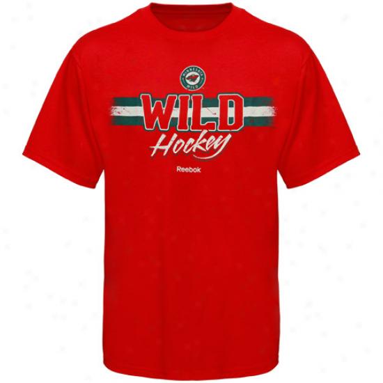 Minnesofa Wild T-shirt : Reebok Minnesota Wild Red Allegiance T-shirt
