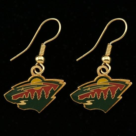 Minnesota Wild Team Logo Swing Earrings