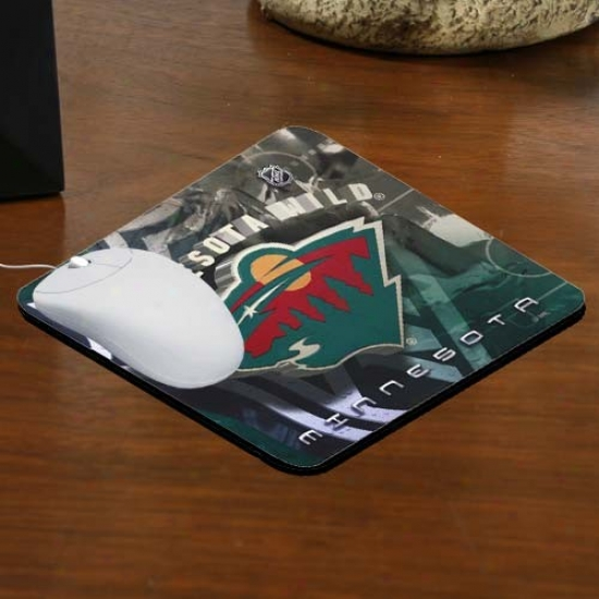 Minnesota Wild Team Logo Neoprene Mousepad