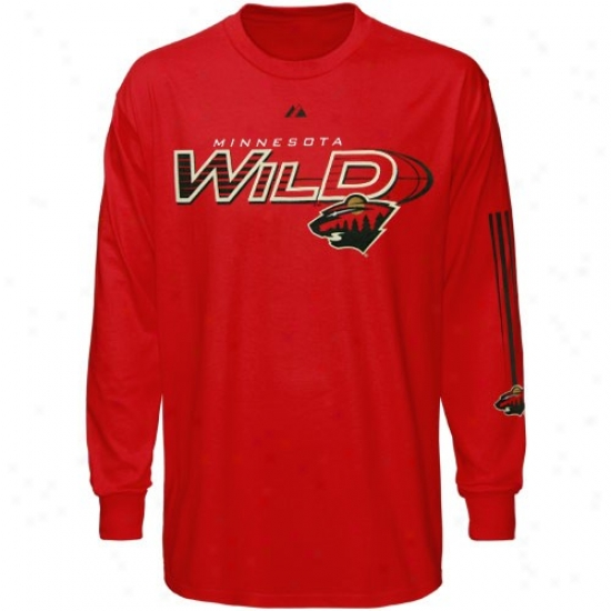 Minnesota Wild Tees : Elevated Minnesota Wild Ree Extreme Hustle Long Sleeve Tees