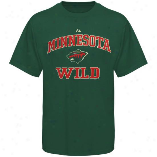 Minnesota Wild Tshirt : Majestic Mjnnesota Wild Green Heart And Soul Ii Tshirt