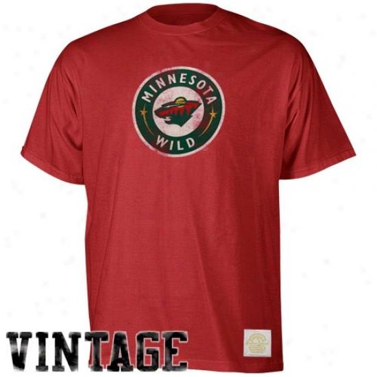 Minnesota Wild Tshirts : Reebok Minnesota Wild Red Better Logo Vintage Premium Tshirts