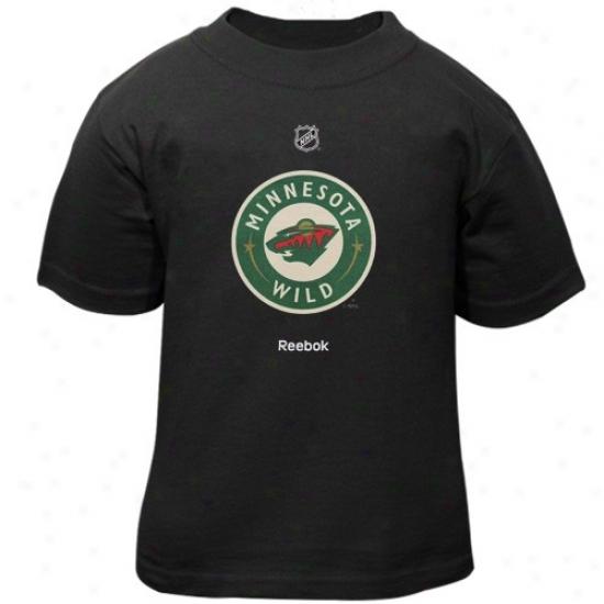 Minnesota Wild Tshirts : Reebok Minnesota Wild Toddler Black Primary Logo Tshirts