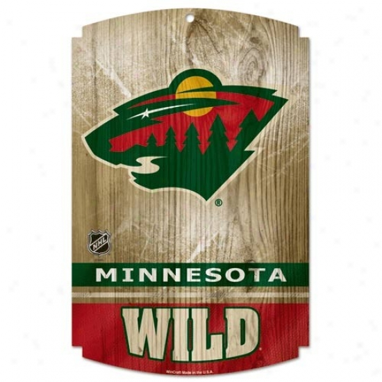 Minnesota Wild Wood Sign
