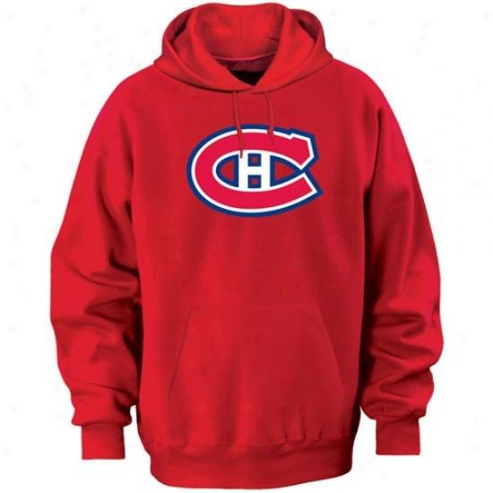 Montreal Canadien Fleece : Majestic Montreal Canadien RedF elt Tek Patcch Fleece