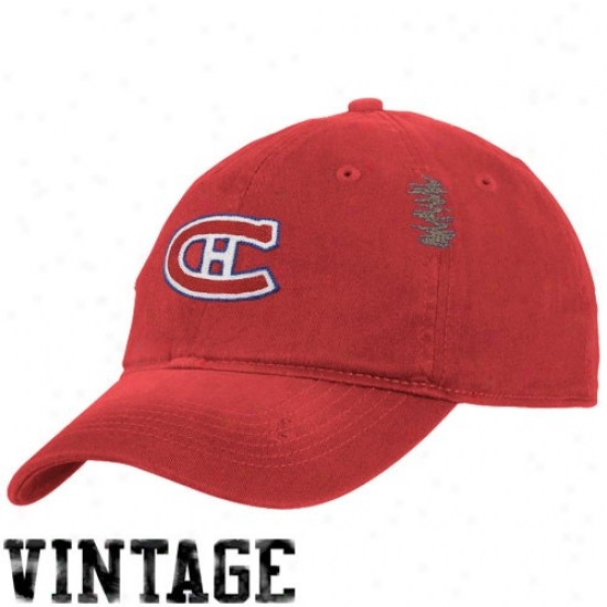 Montreal Canadien Merchandise: Reebok Montreal Canadoen Red Heat Flex Fit Vintage Slouch Hat
