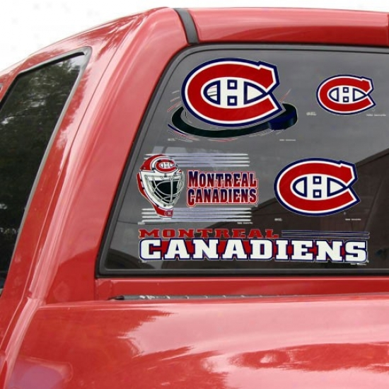 Montreal Canadiens 11'' X 17'' Window Clings Sheet