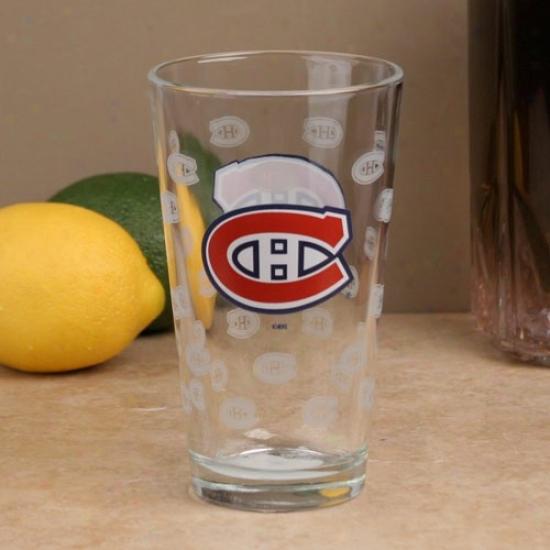 Montreal Canadiens 16oz. Sztin Etch Pint Glass