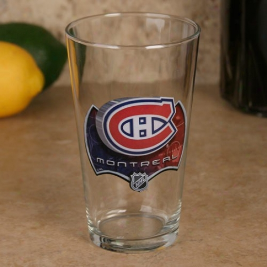 Montreal Canadiens 17 Oz. Enhanced High Definition Mixing Gllass