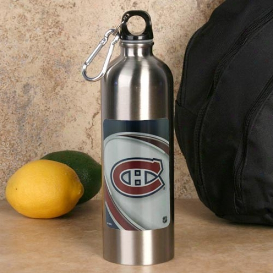 Montreal Canadiens 750ml Stainless Steel Water Bottlr W/ Carabiner Clip