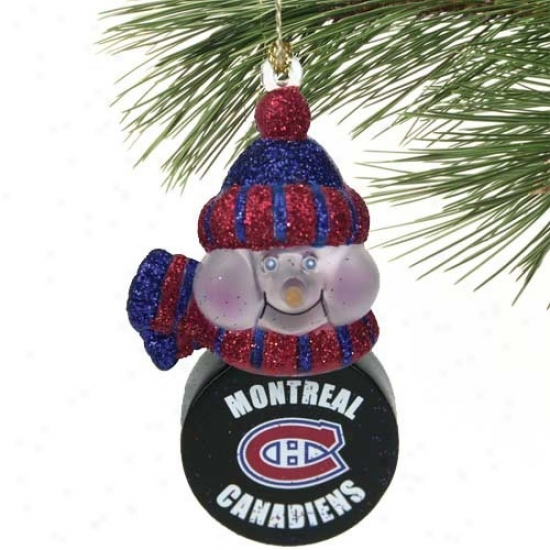 Montrea lCanadiens All-star Light-up Snowman Ornament