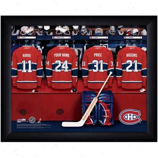 Montreal Canadiens Customized Locker Room Black Framed Photo