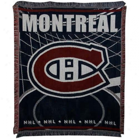 Montreal Canadiens Jacquard Woven Blanket Throw