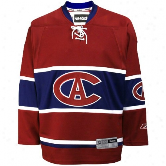 Montreal Canadiens Jerseys : Reebok Montreal Canadiens Maroon Tackle Twill Jerseys With Centennial Patch