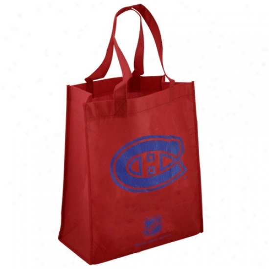 Montreal Canadiens Red Reusable Tote Bag