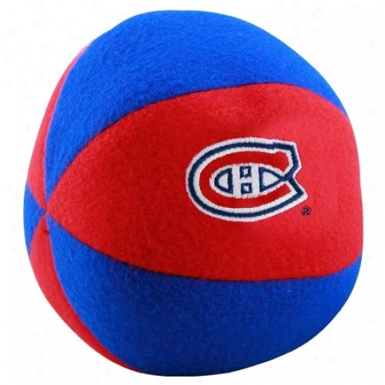 Montreal Canadiens Red-royal Blue Plush Team Ball Rattle