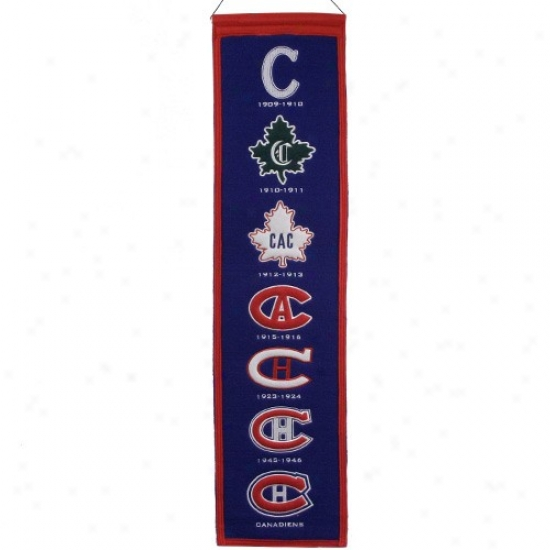 Montreal Canadiens Royal Blue Heritage Banner