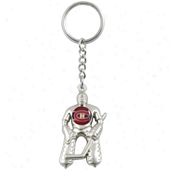 Montreal Canadiens Silver Goalie Keychain