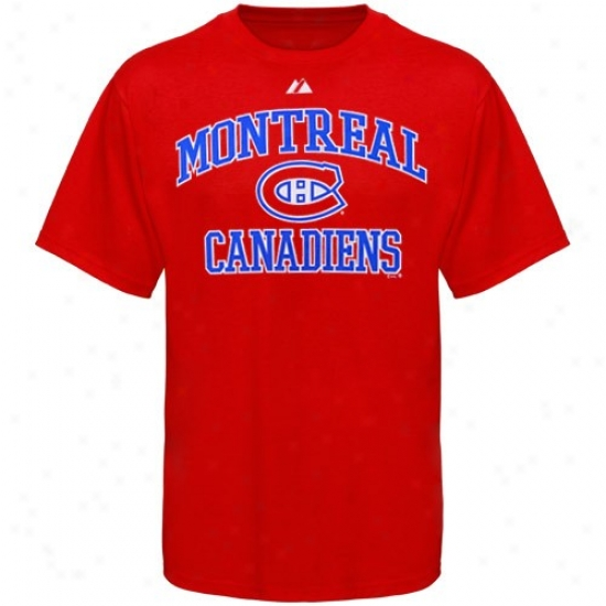 Montreal Canadiens T Shir t: Majestic Montreal Canadiens Red Heart & Soul Ii T Shirt