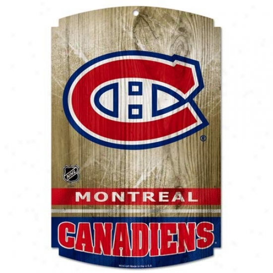 Montreal Canadiens Forest Sign