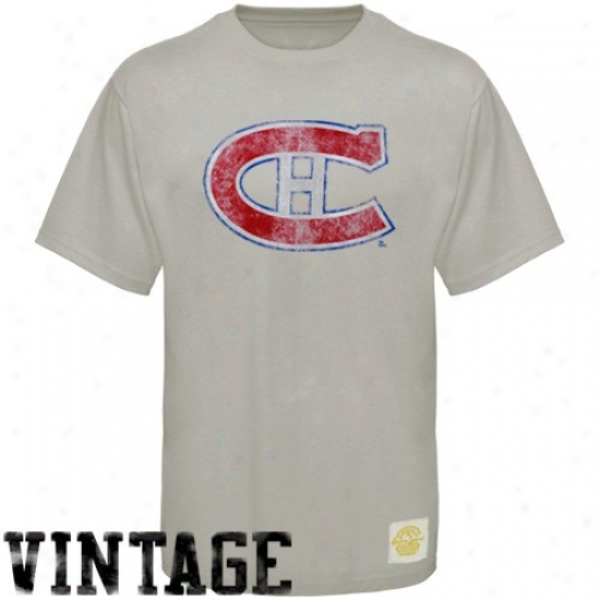 Montreal Hab Shirts : Reebok Montrea Hab Gray Better Logo Vintage Premium Shirts