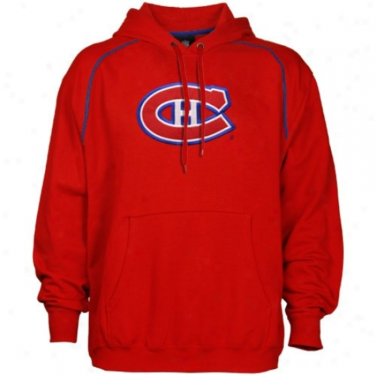 Montreal Habs Stuff: Majestic Montreal Habs Red Fear And Trembling Hoody Sweathsirt